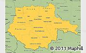 Savanna Style Simple Map of Jihočeský kraj