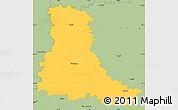 Savanna Style Simple Map of Strakonice