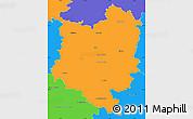 Political Simple Map of Tábor