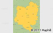 Savanna Style Simple Map of Tábor