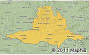 Savanna Style 3D Map of Jihomoravský kraj