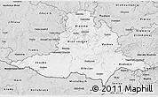 Silver Style 3D Map of Jihomoravský kraj