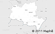 Silver Style Simple Map of Břeclav