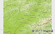 Physical Map of Hodonín