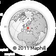 Outline Map of Hodonín