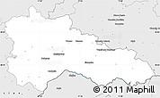 Silver Style Simple Map of Hodonín