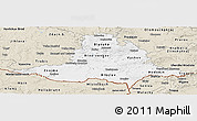 Classic Style Panoramic Map of Jihomoravský kraj