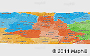 Political Shades Panoramic Map of Jihomoravský kraj