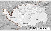 Gray 3D Map of Karlovarský kraj