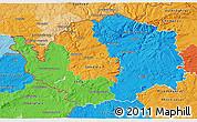Political 3D Map of Karlovarský kraj