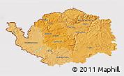 Political Shades 3D Map of Karlovarský kraj, cropped outside