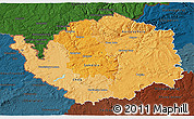 Political Shades 3D Map of Karlovarský kraj, darken