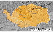 Political Shades 3D Map of Karlovarský kraj, desaturated