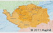 Political Shades 3D Map of Karlovarský kraj, lighten