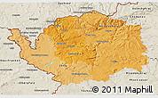 Political Shades 3D Map of Karlovarský kraj, shaded relief outside