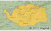Savanna Style 3D Map of Karlovarský kraj