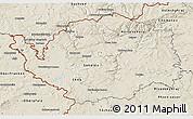 Shaded Relief 3D Map of Karlovarský kraj