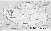 Silver Style 3D Map of Karlovarský kraj