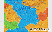 Political 3D Map of Karlovy Vary