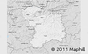 Silver Style 3D Map of Karlovy Vary