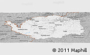 Gray Panoramic Map of Karlovarský kraj