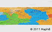 Political Panoramic Map of Karlovarský kraj