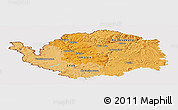 Political Shades Panoramic Map of Karlovarský kraj, cropped outside