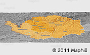 Political Shades Panoramic Map of Karlovarský kraj, desaturated