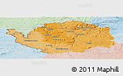 Political Shades Panoramic Map of Karlovarský kraj, lighten