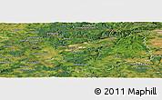 Satellite Panoramic Map of Karlovarský kraj
