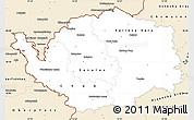 Classic Style Simple Map of Karlovarský kraj