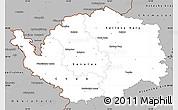 Gray Simple Map of Karlovarský kraj
