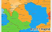 Political Simple Map of Karlovarský kraj