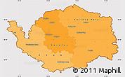 Political Shades Simple Map of Karlovarský kraj, cropped outside