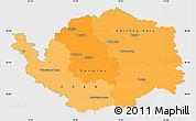 Political Shades Simple Map of Karlovarský kraj, single color outside