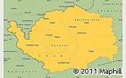 Savanna Style Simple Map of Karlovarský kraj