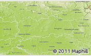 Physical 3D Map of Hradec Králové