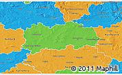 Political 3D Map of Hradec Králové