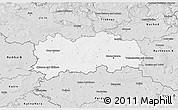 Silver Style 3D Map of Hradec Králové