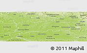 Physical Panoramic Map of Hradec Králové