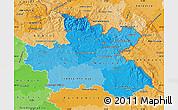 Political Shades Map of Královéhradecký kraj
