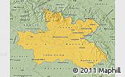 Savanna Style Map of Královéhradecký kraj