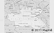 Silver Style Map of Královéhradecký kraj