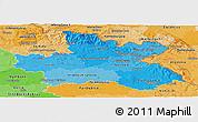 Political Shades Panoramic Map of Královéhradecký kraj