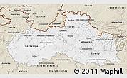 Classic Style 3D Map of Liberecký kraj