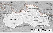 Gray 3D Map of Liberecký kraj