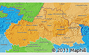 Political Shades 3D Map of Liberecký kraj