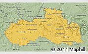 Savanna Style 3D Map of Liberecký kraj