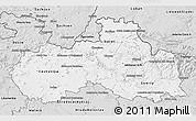 Silver Style 3D Map of Liberecký kraj