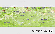 Physical Panoramic Map of Česká Lípa